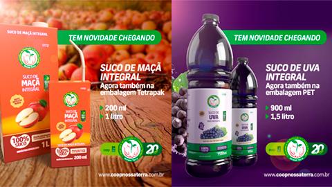 Read more about the article Cooperativa Nossa Terra lança dois novos produtos